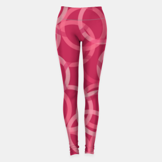 Miniatur Beautiful muted red and pink circles  Leggings, Live Heroes