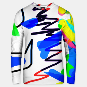Thumbnail image of Scratchy colours Unisex sweater, Live Heroes