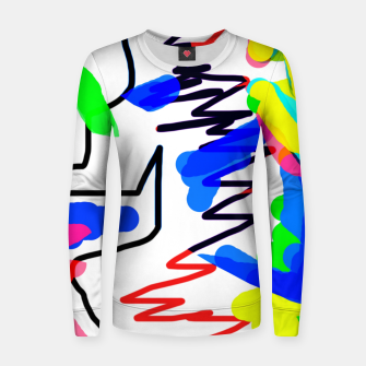 Thumbnail image of Scratchy colours Women sweater, Live Heroes