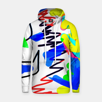 Thumbnail image of Scratchy colours Hoodie, Live Heroes