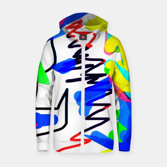 Thumbnail image of Scratchy colours Zip up hoodie, Live Heroes