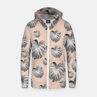 Thumbnail image of Tropical Monstera Dream #1 #tropical #pattern #decor #art Reißverschluss kapuzenpullover, Live Heroes