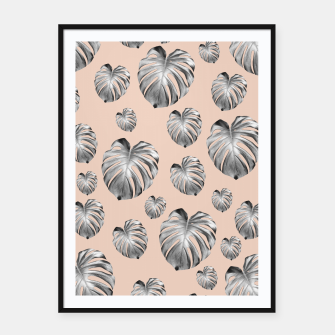 Thumbnail image of Tropical Monstera Dream #1 #tropical #pattern #decor #art Plakat mit rahmen, Live Heroes