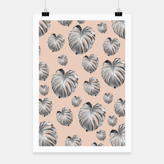 Thumbnail image of Tropical Monstera Dream #1 #tropical #pattern #decor #art Plakat, Live Heroes