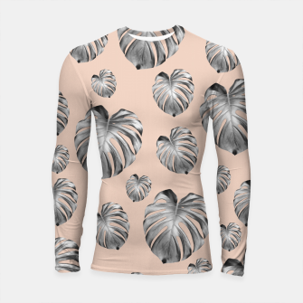 Thumbnail image of Tropical Monstera Dream #1 #tropical #pattern #decor #art Longsleeve rashguard, Live Heroes