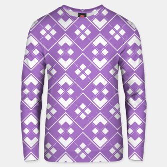 Imagen en miniatura de Abstract geometric pattern - purple and white. Unisex sweater, Live Heroes