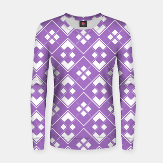 Imagen en miniatura de Abstract geometric pattern - purple and white. Women sweater, Live Heroes
