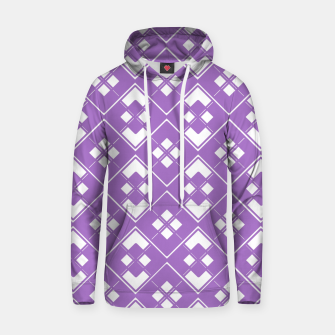 Imagen en miniatura de Abstract geometric pattern - purple and white. Hoodie, Live Heroes