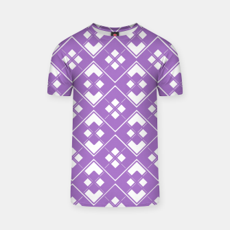 Imagen en miniatura de Abstract geometric pattern - purple and white. T-shirt, Live Heroes