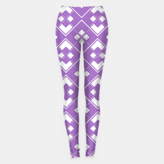Imagen en miniatura de Abstract geometric pattern - purple and white. Leggings, Live Heroes
