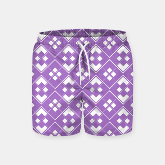 Imagen en miniatura de Abstract geometric pattern - purple and white. Swim Shorts, Live Heroes