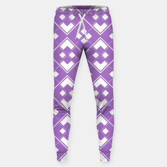 Imagen en miniatura de Abstract geometric pattern - purple and white. Sweatpants, Live Heroes