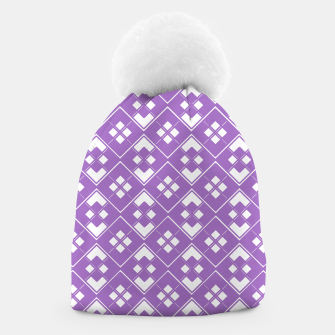 Imagen en miniatura de Abstract geometric pattern - purple and white. Beanie, Live Heroes