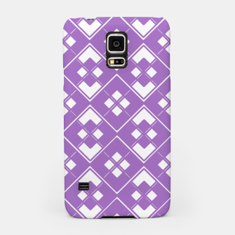 Imagen en miniatura de Abstract geometric pattern - purple and white. Samsung Case, Live Heroes