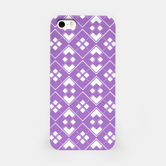 Imagen en miniatura de Abstract geometric pattern - purple and white. iPhone Case, Live Heroes