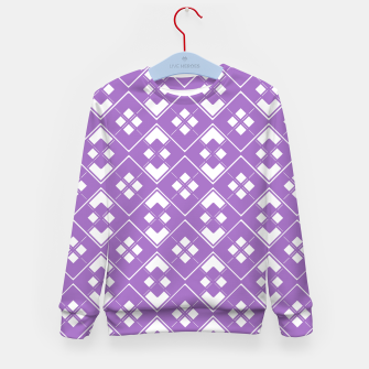Imagen en miniatura de Abstract geometric pattern - purple and white. Kid's sweater, Live Heroes