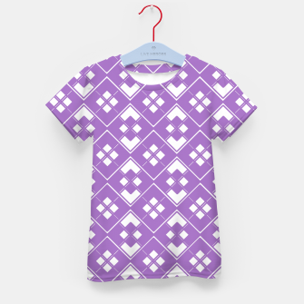 Imagen en miniatura de Abstract geometric pattern - purple and white. Kid's t-shirt, Live Heroes