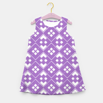 Imagen en miniatura de Abstract geometric pattern - purple and white. Girl's summer dress, Live Heroes
