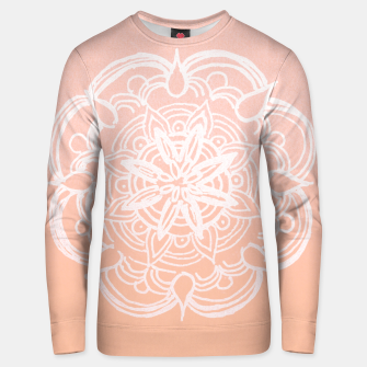 Peach Blush Romantic Flower Mandala #3 #drawing #decor #art Unisex sweatshirt thumbnail image