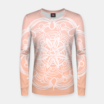 Peach Blush Romantic Flower Mandala #3 #drawing #decor #art Frauen sweatshirt thumbnail image