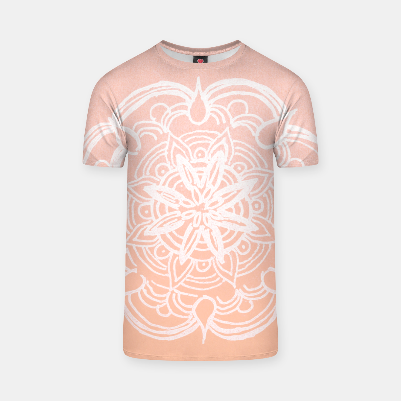 Image of Peach Blush Romantic Flower Mandala #3 #drawing #decor #art T-Shirt - Live Heroes