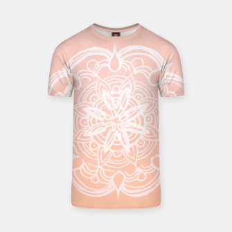Peach Blush Romantic Flower Mandala #3 #drawing #decor #art T-Shirt thumbnail image
