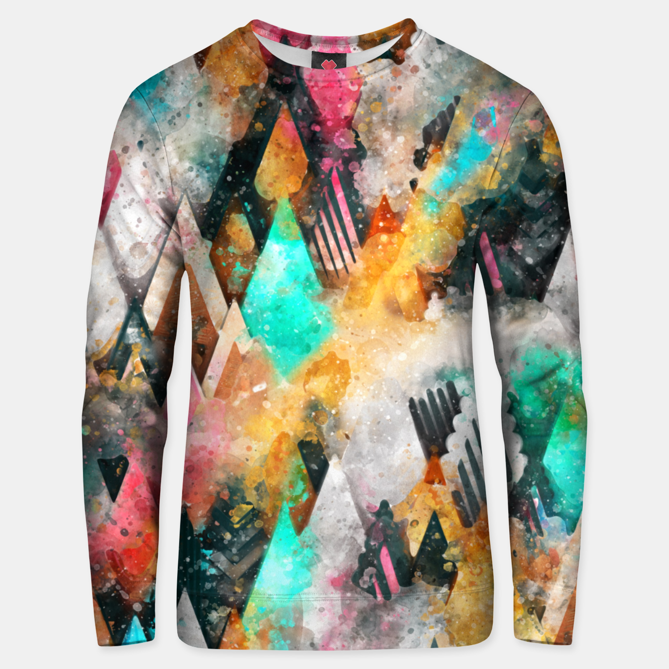 Foto Abstract Triangles Unisex sweater - Live Heroes