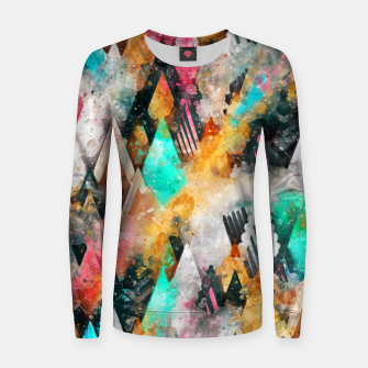 Abstract Triangles Women sweater obraz miniatury