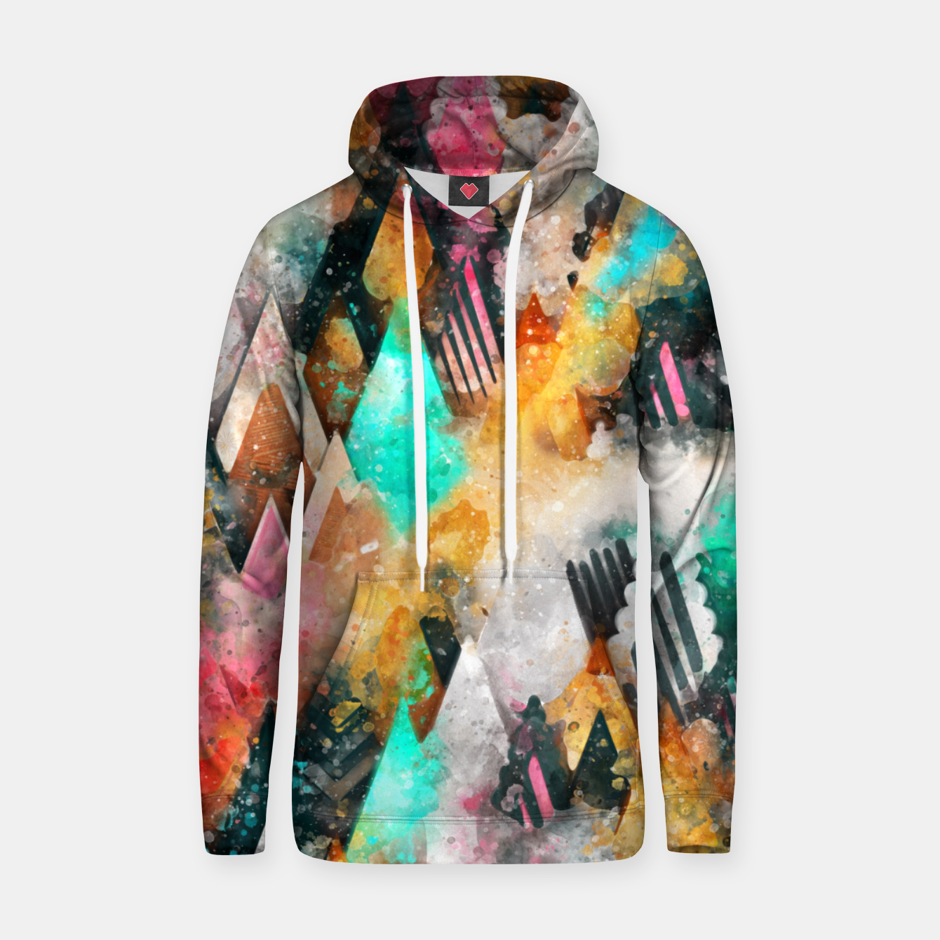 Image of Abstract Triangles Hoodie - Live Heroes