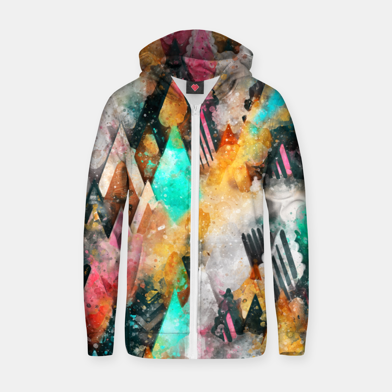 Foto Abstract Triangles Zip up hoodie - Live Heroes