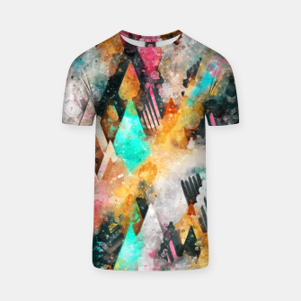 Miniature de image de Abstract Triangles T-shirt, Live Heroes