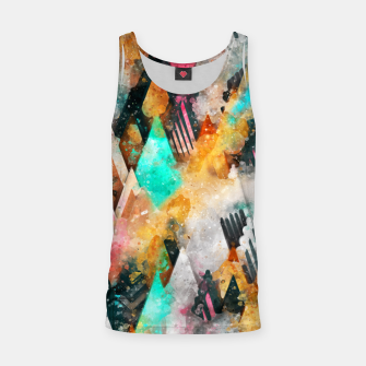 Miniatur Abstract Triangles Tank Top, Live Heroes