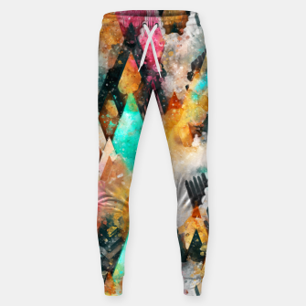 Miniatur Abstract Triangles Sweatpants, Live Heroes