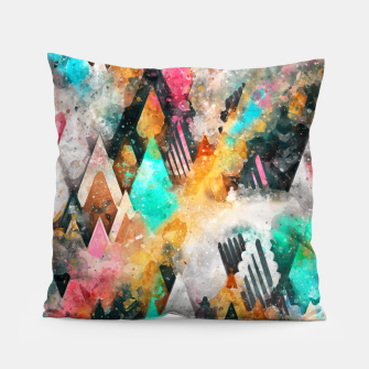 Miniatur Abstract Triangles Pillow, Live Heroes