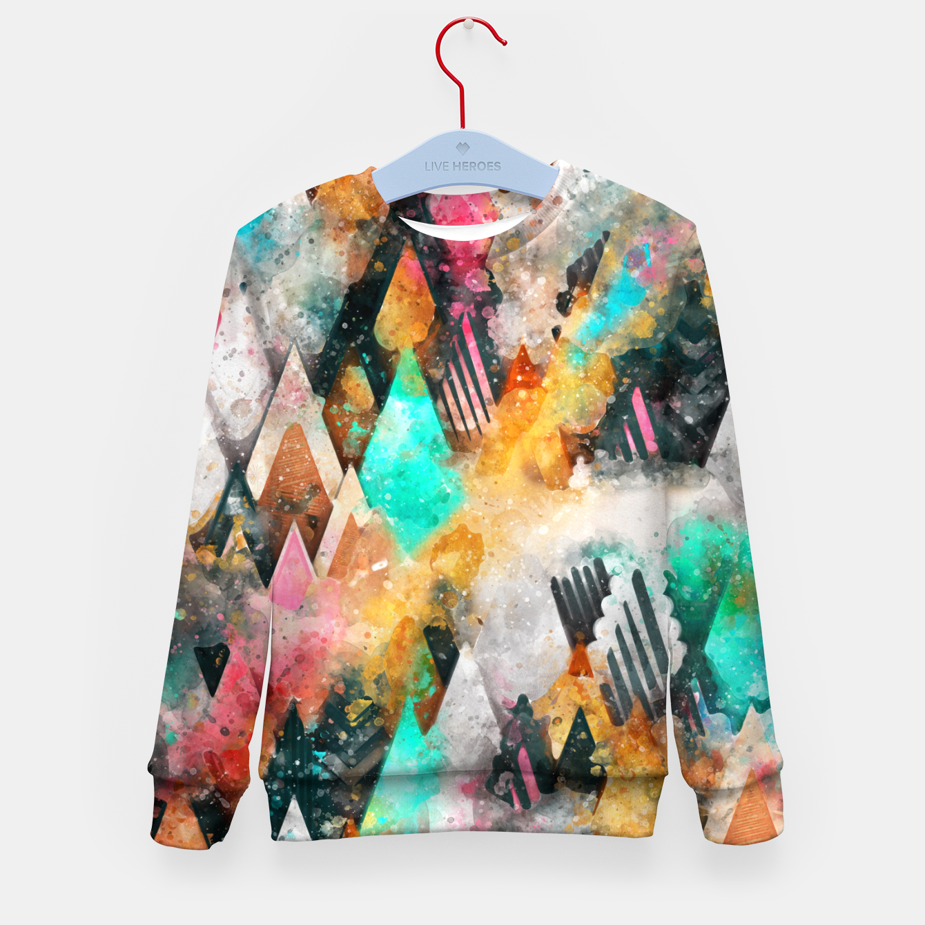 Image of Abstract Triangles Kid's sweater - Live Heroes