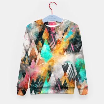 Thumbnail image of Abstract Triangles Kid's sweater, Live Heroes