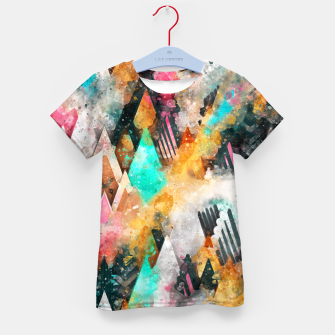 Abstract Triangles Kid's t-shirt obraz miniatury