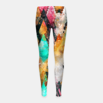 Thumbnail image of Abstract Triangles Girl's leggings, Live Heroes