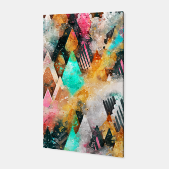 Abstract Triangles Canvas obraz miniatury