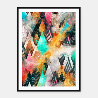 Abstract Triangles Framed poster obraz miniatury