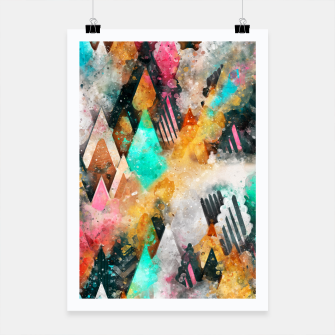 Thumbnail image of Abstract Triangles Poster, Live Heroes