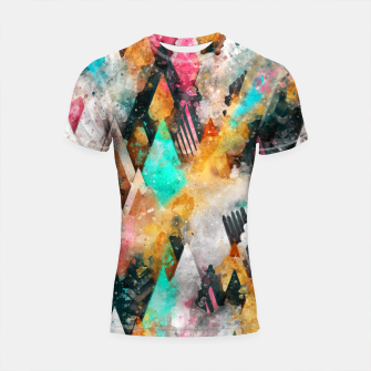 Abstract Triangles Shortsleeve rashguard obraz miniatury