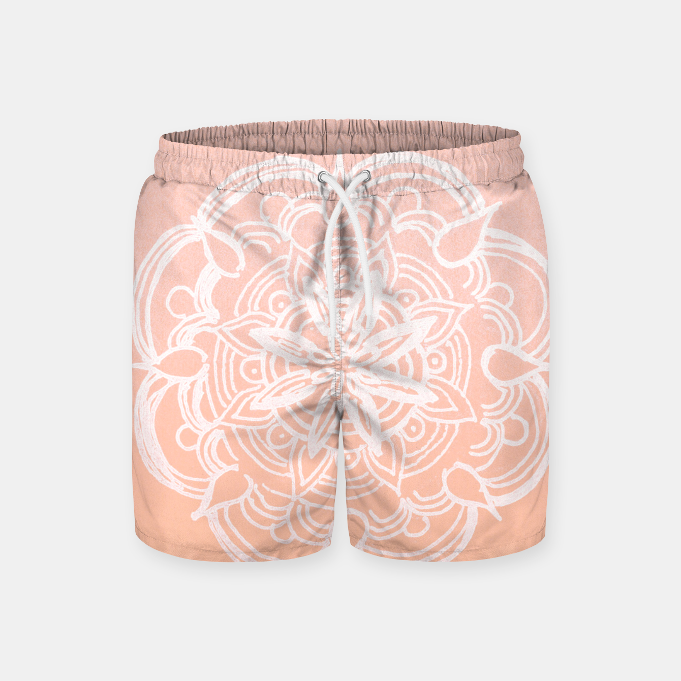 Image of Peach Blush Romantic Flower Mandala #3 #drawing #decor #art Badeshorts - Live Heroes