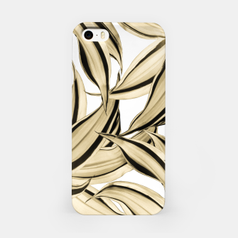 Thumbnail image of Dracaena Tropical Leaves Pattern Gold Black #1 #tropical #decor #art  iPhone-Hülle, Live Heroes