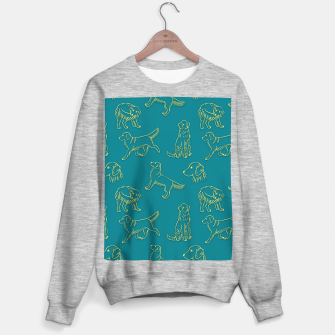 Thumbnail image of Golden Retriever Pattern (Teal Background) Sweater regular, Live Heroes