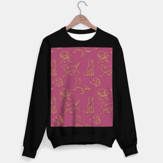 Thumbnail image of Golden Retriever Pattern (Berry Background) Sweater regular, Live Heroes
