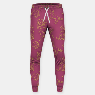 Thumbnail image of Golden Retriever Pattern (Berry Background) Sweatpants, Live Heroes