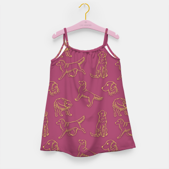 Thumbnail image of Golden Retriever Pattern (Berry Background) Girl's dress, Live Heroes