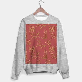 Thumbnail image of Golden Retriever Pattern (Terracotta Red Background) Sweater regular, Live Heroes