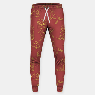 Thumbnail image of Golden Retriever Pattern (Terracotta Red Background) Sweatpants, Live Heroes